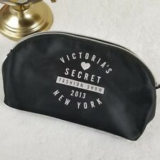 RARE Victoria's Secret 2013 Fashion Show Week Clutch Makeup Bag Purse Black