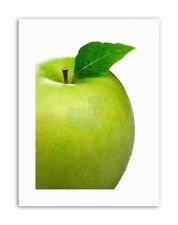 GREEN APPLE FRUIT FOOD KITCHEN PHOTO Poster Picture Canvas art Prints