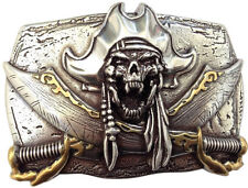 Gürtelschnalle Pirat mit Säbel