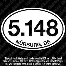 Nurburgring GP-Strecke Track Formula One Distance Euro Oval Vinyl Decal Sticker