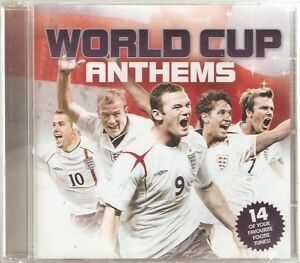 WORLD CUP ANTHEMS CD - 14 FAVOURITE SONGS - Come on England, Three Lions + more