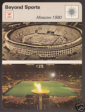 MOSCOW OLYMPICS GAMES 1980 Lenin Stadium Photo SPORTSCASTER CARD 63-15B