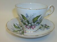Regency English Teacup Saucer Set - Lily of the Valley Flowers