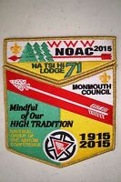 NA TSI HI 71 MONMOUTH 2-PATCH 100TH OA CENTENNIAL 2015 NOAC FLAP GMY DELEGATE
