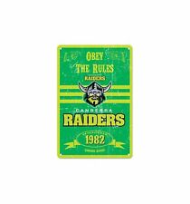 Brisbane Broncos NRL Obey The Rules Retro Metal Sign