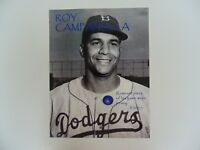 """Brooklyn Dodgers"" Roy Campanella Remnant Piece Of His Game Worn Jersey COA"