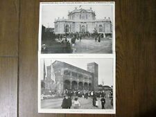 Fronte-retro: Mostra Etnografica di Roma + Monumenti distrutti dal fuoco - 1911