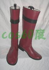 Samurai Sentai Shinkenger Takeru Shiba Red Cosplay Shoes Boots S008