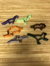 Dinosaur Cookie Cutter Set 6 pc T-Rex Pterodactyl Stegosaurus Dino Party Colors