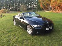 BMW 320D M SPORT 2008 58 PLATE CONVERTIBLE CABRIOLET DIESEL HEATED LEATHER E93