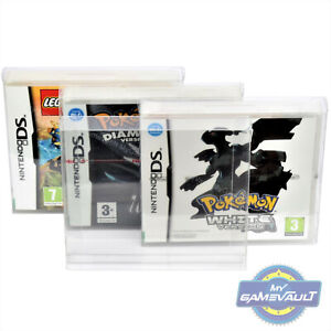 DS Game Box Protectors x 5 for Nintendo STRONG 0.5mm PET Plastic Display Case
