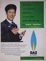 PUBLICITÉ DE PRESSE 1958 GDF GAZ DE FRANCE TARIF BINÔME - ADVERTISING