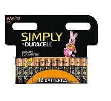 12 x Duracell Simply AAA Alkaline Batteries LR03 MN2400 1.5V UK Seller