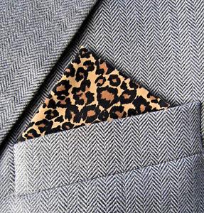 SUPERNOVA Leopard Black & Gold Pocket Square Handkerchief Scooter Mod Indie 60s
