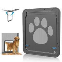 Pet Window Screen Door Dog Gate Puppy Automatic Magnetic Lockable Flap Net