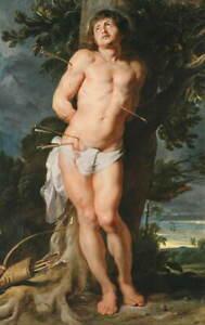 Peter Paul Rubens St. Sebastian Poster Reproduction Giclee Canvas Print