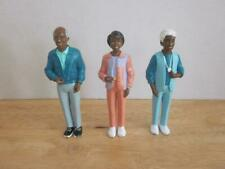 5 Inch African American PVC Dollhouse Figures Mother Grandfather and Grandmother