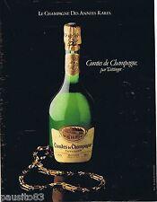 PUBLICITE ADVERTISING 095 1981 Taittinger les Comtes de Champagne