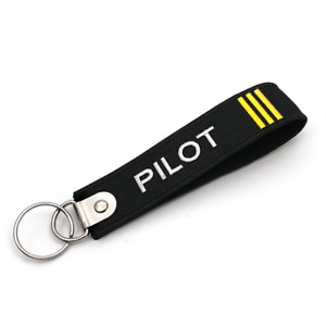 Pilot Keychain 3 bars Embroidered Tag Double Up