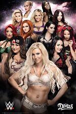 WWE Divas Girls Women Charlotte Poster Print Wall Art Large Maxi