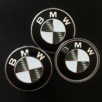 Black / White CARBON Overlay Decal BMW BADGE ROUNDEL EMBLEMS Rims Hood Trunk