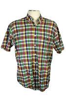 Ralph Lauren Blake Men's L Plaid S/S Shirt, Blue, Red, Yellow, Green, White