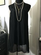 Nastygal Pleated Mini Black Dress Size small