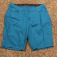 riders by lee womens jean Shorts Size 16 Teal Cotton Blend A45