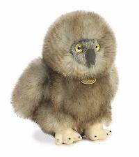 New AURORA MIYONI Stuffed Plush Toy GREAT HORNED BABY OWL Animal Bird GREY GRAY