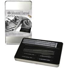 New Royal Drawing / Sketching Art Set, Artist Charcoal Pencils Sticks Tin