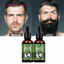2PCS 30ml ALIVER Hemp Seed Oil Beard & Hair Growth Softer 100% Natural Organic