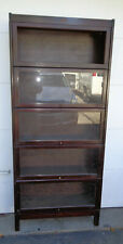 ORIGINAL CONDITION SIGNED LUNDSTROM MAHOGANY 5 STACK MISSION STYLE BOOKCASE