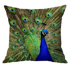 Luxury Velvet Linen Cushion Cover Decor Pillow Green peacock 45x45cm