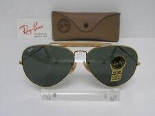 New Vintage B&L Ray Ban Outdoorsman II Gold G-15 62mm L2112 Aviator USA NOS