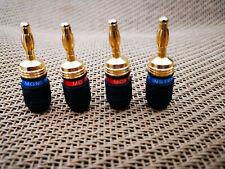 Monster Banana Quick Lock Binding Posts Connectors M Z2 Bi Wire Speaker Cable