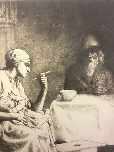 "William Strang, ""Domestic"", Etching (1894)"