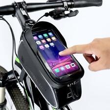 Waterproof Mountain Bike Frame Front Bag Pannier Bicycle Mobile Phone Holder Bag