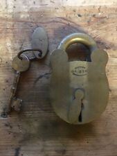 More details for gibbons padlock rare vintage solid brass huge antique lock 🔐