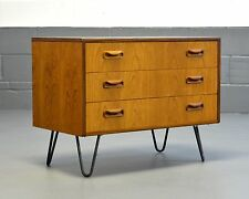 Retro Mid Century G Plan Scandinavian TV Media Unit Bedside Table Hairpin Legs