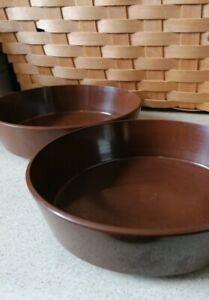 Vintage 'Encore' Melaware Brown bowls x2