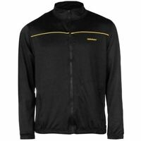 Donnay Poly Full Zip Mens Gents Track Jacket Top Black Size XL B351