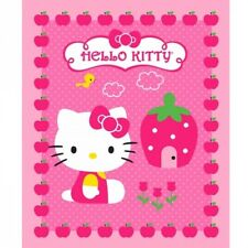 Sale Hello Kitty Cupcake Panel 100% Cotton Fabric Patchwork