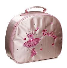 Millones de niñas Rosa Satinado Ballet Danza Zapatillero por Katz Dancewear hb-8a20