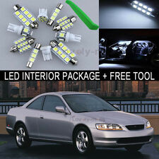 White LED Interior Package Light Bulb 10X Kit For 98 2002 Honda Accord + Tool J