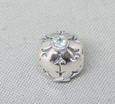 Authentic Pandora Christmas Aqua CZ Snowflake Charm/Bead Silver 925 790367CZA