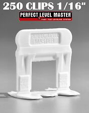 """1/16"""" T-Lock 250 Clips - Perfect Level Master  - Tile Leveling System spacers"""