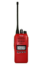 ICOM IC-41PRO RED UHF CB TWO WAY RADIO PORTABLE HANDHELD HAND HELD