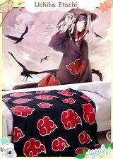 1pc 150*200cm Anime NARUTO Black Red Cloud Coral fleece Blanket Bedsheet Itachi