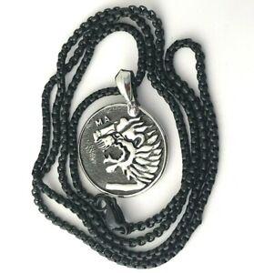 David Yurman Petrvs Lion Amulet Pendant On Black Titanium Chain Necklace