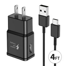 Original Oem Samsung Galaxy S10 S9 S8 Note10 9 8 Fast Wall Charger +Type C Cable